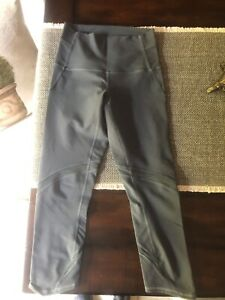 Lululemon grey size 4 cropped with mesh workout tights