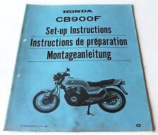 Istruzioni di montaggio negozio Manual set-up instructions HONDA CB 900 F, 1983