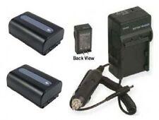 2 Batteries +Charger for Sony HDRCX550V HDR-CX550VE HDR-XR150 DCRSX65S DCRSX65BE