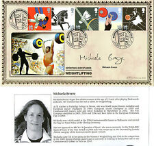 22 OCTOBER 2009 OLYMPIC GAMES SIGNED MICHAELA BREEZE BENHAM FIRST DAY COVER