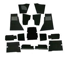 JAGUAR XKE E-TYPE S1, S2 1966 - 1970 2+2 COUPE BLACK WILTON WOOL CARPET SET NEW