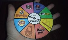 1 of 8 - DECIDER w/Spinner - FAST FOOD: McD's TB KFC Pizza Hut BK Arbys Subway