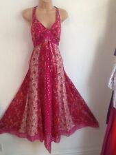 MONSOON PETITE size 14 Beautiful Silk Ditsy Floral Boho Style Occasion Dress