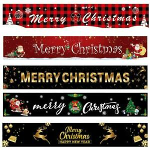 Merry Christmas Banner Santa Claus Ornaments Outdoor SALE HOT Home Xmas N0D1