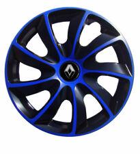 4x15'' Wheel trims for Renault Clio Megane Scenic 15'' - black / blue