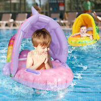 Baby Kids Inflatable Ring Seat PVC Blue Whale Water Swim Pool Toy Swimming Beach