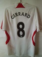 VERY RARE!!! EXCELLENT GERRARD !!! 2007-08 Liverpool Away Shirt Jersey Trikot S