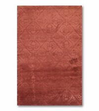 3' x 5' Tibetan Hand knotted Handmade Wool and Silk Oriental Area Rug 3x5 Rust