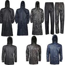 4f01cdbd899 Adults Waterproof Jacket Long Coat   Trousers Packaway Rain Womens Mens  Ladies