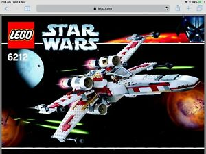 Used LEGO Star Wars X Wing Fighter 6212 Set