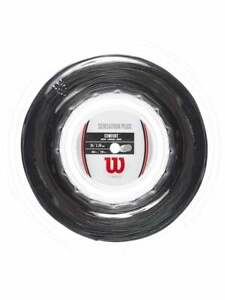 New Wilson Sensation Plus16G/1.34MM Tennis string 200M REEL Black  Power Comfort