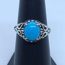 Kabana Sterling Silver 925 Beautiful Rare Sleeping Beauty Turquoise Size 7