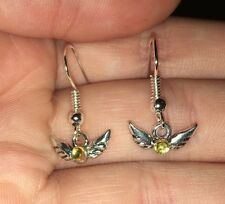 Adorable Tiny Golden Snitch Earrings Gift For Fan Of Harry Potter Books Handmade