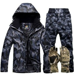 Warm Ski Suit Men Outdoor Windproof Waterproof Snow Sets Ski Jackets and Pants