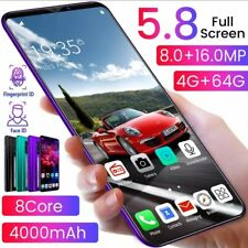 Android 10 Smart Phone 5.8 Water Drop Full Screen Free Shipping Worldwide!