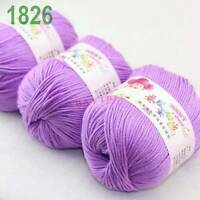 SALE 3 balls x50gr Cashmere Silk velvet Hand Knitting baby Yarn Light Iris 1826