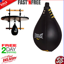 Elite leather boxing speed punching bag Mma top grade gym workout fitness mount