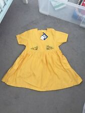 Babymini By Catimini Girls Designer Yellow Dress Age 8 Years Bnwt Vintage