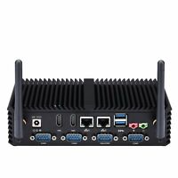 OEM 6 COM Core i3 i5 i7 Industrial PC Fanless Mini PC,RS485 VGA Option,Fanless