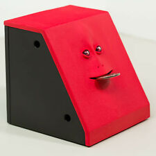 Takada Collection Electronic Monkey Face Coin Money Piggy Bank Box (Red)