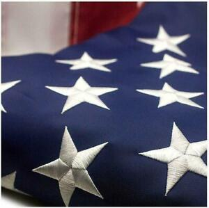 American Flag 8x12 ft 420D Nylon UV Protected Embroidered Stars Outside US Flag