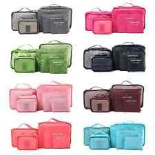 6Pcs Clothes Storage Bags Set Packing Cube Travel Clothing Organizer Pouch