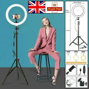 """10""""12""""18"""" LED Ring Light with Stand for Youtube Tiktok Makeup Video Phone Selfie"""