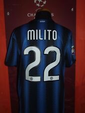 MILITO INTER 2010/2011 MAGLIA SHIRT CALCIO FOOTBALL MAILLOT JERSEY SOCCER