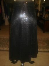 STUNNING NEW HANDMADE BLACK SEQUIN MIDI SKIRT PLUS SZ 20 - WAIST=42 INCHES -WOW