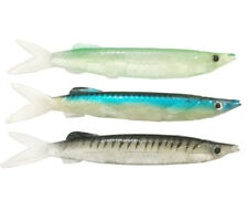 "3PCS Big Soft Fishing Lures 8.86"" 1.8oz PVC Fishing Tackle Pesca Baits 3 Colors"