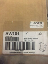 (Box of 20) Genova Repla-K, White Right Hand, End Cap Gutter Run AW101K (NEW)