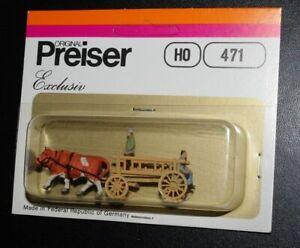 Preiser, Vintage, NiB, HO scale  Farm & Trades Wagons, Items 471, 474, 493, 494