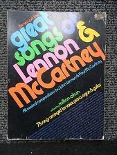 BEATLES LENNON & McCARTNEY GREAT SONGS / GUITAR PIANO ORGAN VOICE 1974
