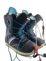 Burton Mint Truefit Imprint 1 Women's Size 10 Black Snowboard Boots Speed Zone