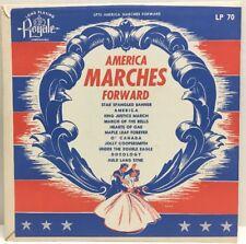 "America Marches Forward 10"" Lp 70 Record Varsity 6926"