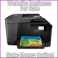 Fully Stocked INK PRINTERS Website Business|FREE Domain|FREE Hosting|Traffic