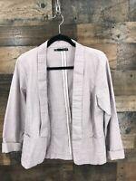Maurices Women's Light Mauve Unstructured Blazer Jacket Size L