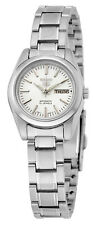 Seiko 5 SYMK13 Women's Stainless Steel White Dial Day Date Automatic Watch