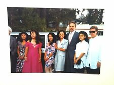 Vintage 80s Photo Outdoor Wedding In The Woods Asian & American Family Picture