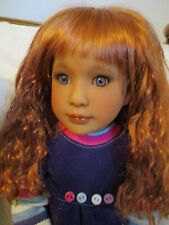 "OOAK artist face up Kidz n Cats 18"" doll removable auburn wig"