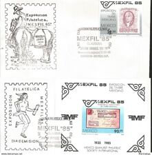 J) 1985 MEXICO, HIDALGO, PHILATELIC EXHIBITION OF MEXICAN STAMP, SET OF 2 FDC