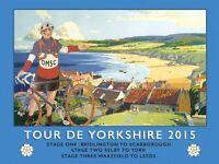 Tour de Yorkshire 2015 Beach small metal sign   (og 2015)