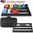 "Large Metal Guitar Pedal Board 19.7"" x 11.4"" with Carrying Bag, Self Adhesive"