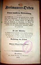 1852 Free Mason & Jewish Conspiracies, Plots Der Freimaurer-Orden by Eckert 1st