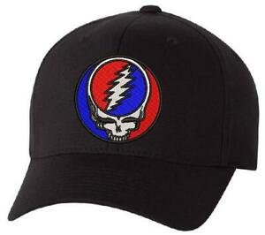 Grateful Dead Steal your Face Embroidered Flex Fit Hat - Various Choices