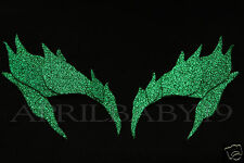 Poison Ivy Leaves Eyebrow Eye mask GLITTER GREEN Cosplay Comic Con Fairy Elf