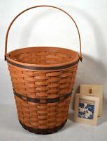 Longaberger 1989 JW Collection Bankers Waste Basket New