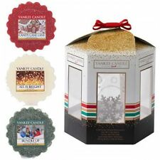 Yankee Candle Christmas Glass snowflake wax Melt warmer with 3 fragrance melts