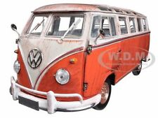 1960 VOLKSWAGEN MICROBUS DELUXE USA MODEL RUSTED 1/24 M2 MACHINES 40300-45A