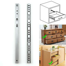 10 Sets Metal Ball Bearing Drawer Slide Rail Extension Full Telescopic 245*17mm